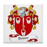 Dunne Family Crest Tile Coaster
