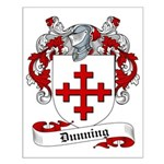 Dunning Family Crest Small Poster
