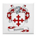 Dunning Family Crest Tile Coaster