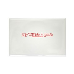 My Wife's A Geek Rectangle Magnet (100 pack)