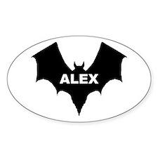 BLACK BAT ALEX Oval Decal
