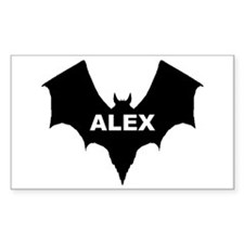 BLACK BAT ALEX Rectangle Decal