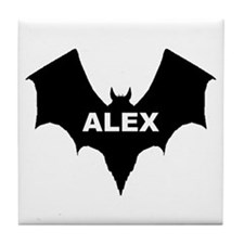 BLACK BAT ALEX Tile Coaster