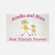 Amelia and Mom - Best Friends Rectangle Magnet