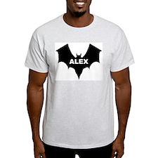 BLACK BAT ALEX Ash Grey T-Shirt