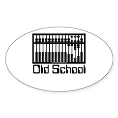 Old School Oval Decal