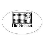 Old School Oval Sticker (10 pk)