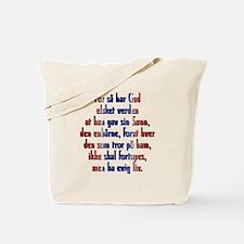 John 3:16 Norwegian Tote Bag