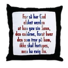 John 3:16 Norwegian Throw Pillow
