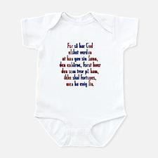 John 3:16 Norwegian Infant Bodysuit