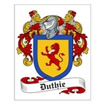 Duthie Family Crest Small Poster