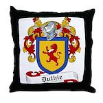 Duthie Family Crest Throw Pillow