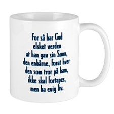 John 3:16 Norwegian Small Mug
