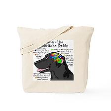 Black Lab Brain Tote Bag