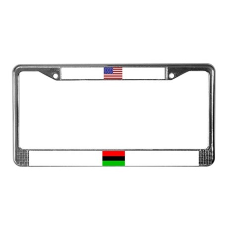 African-American Flag 2 License Plate Frame