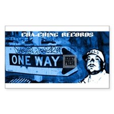 cha-ching records Rectangle Decal
