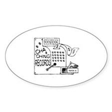 cha-ching logo Oval Decal