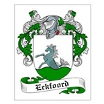 Eckfoord Family Crest Small Poster