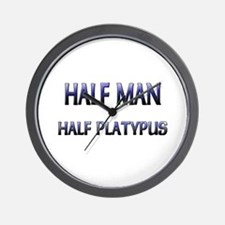 Half Man Half Platypus Wall Clock