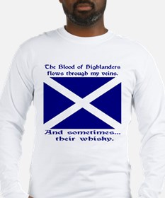 Scottish Blood & Whisky St. A Long Sleeve T-Shirt