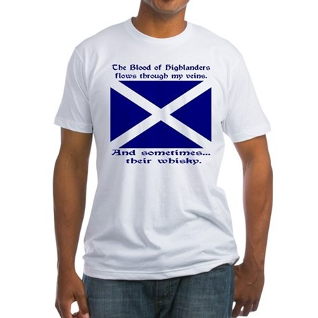 Scottish Blood & Whisky St. A Fitted T-Shirt