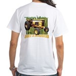Just a Scratch White T-Shirt