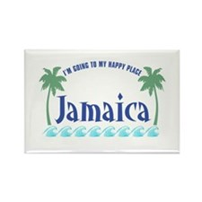 Jamaica Happy Place - Rectangle Magnet
