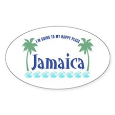 Jamaica Happy Place - Oval Decal