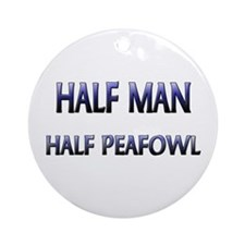Half Man Half Peafowl Ornament (Round)