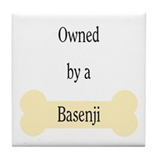 Owned by a Basenji Tile Coaster