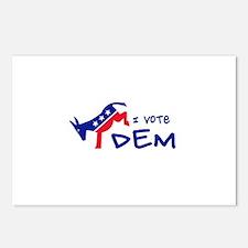 I Vote DEM Postcards (Package of 8)