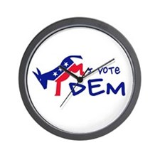 I Vote DEM Wall Clock