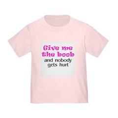 Give me the boob - pink T
