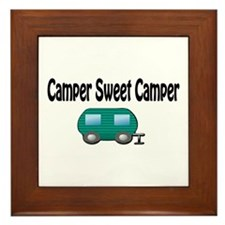 Camper Sweet Camper Framed Tile