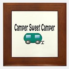 Camper Sweet Camper Framed Tile