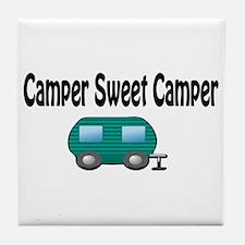 Camper Sweet Camper Tile Coaster