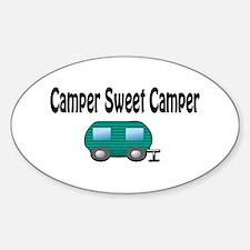 Camper Sweet Camper Oval Decal