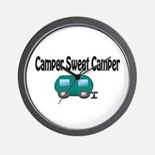 Camper Sweet Camper Wall Clock