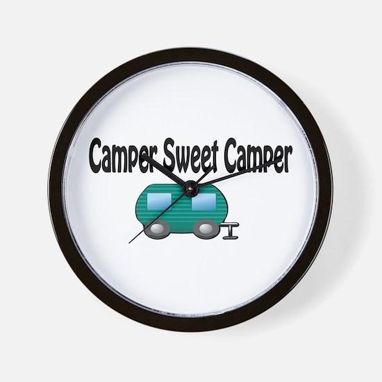 Camper Sweet Camper Wall Clock