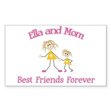 Ella and Mom - Best Friends Rectangle Decal