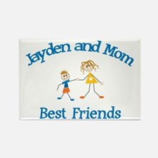 Jayden and Mom - Best Friends Rectangle Magnet