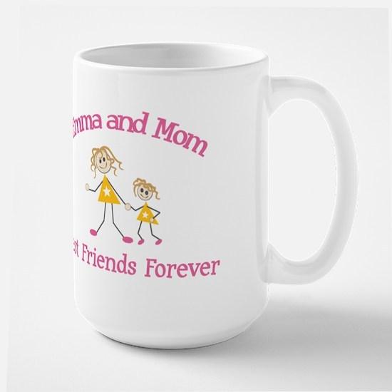 Emma and Mom - Best Friends Large Mug