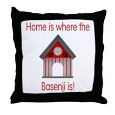 Home is where the Basenji is Throw Pillow