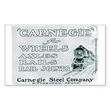 Carnegie Steel 1890 Rectangle Decal