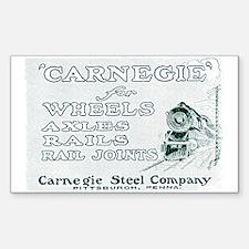 Carnegie Steel 1890 Rectangle Decal
