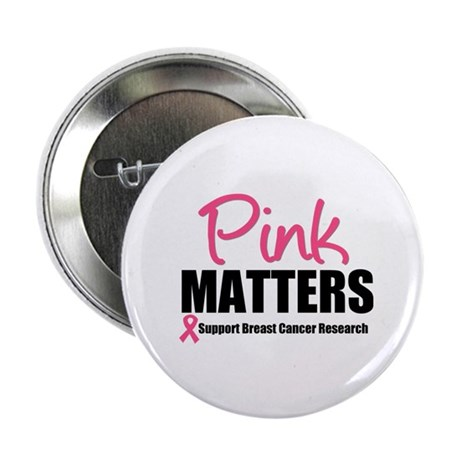 """Pink Matters Breast Cancer 2.25"""" Button"""