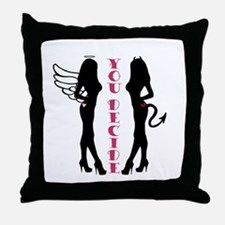 Angel or Devil Throw Pillow