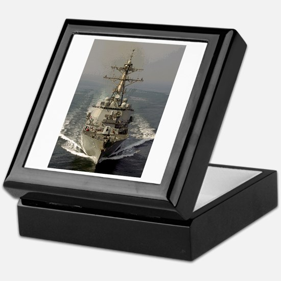 USS Churchill DDG-81 Keepsake Box
