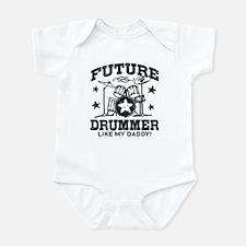 Future Drummer Like My Daddy Onesie