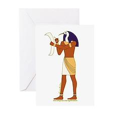 Egyptian God Thoth Greeting Card